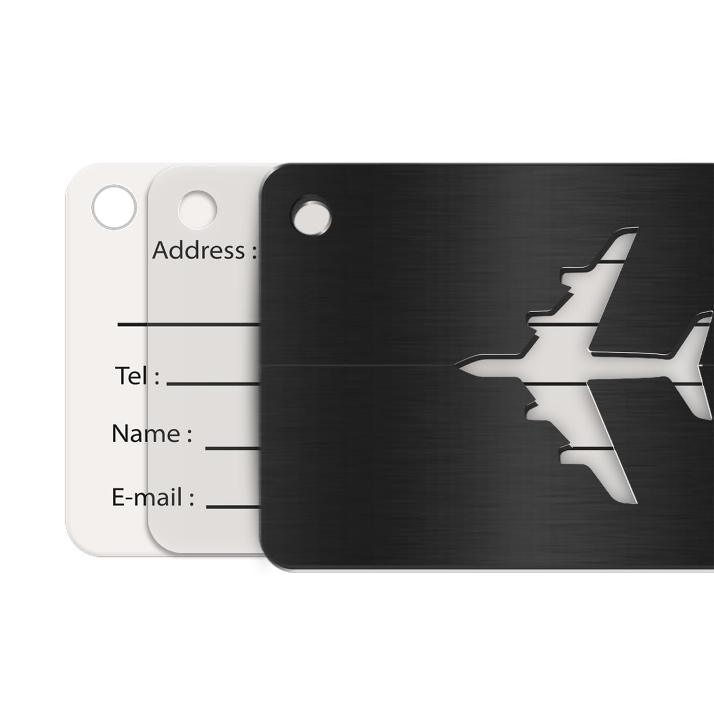 Reise-Kofferanhaenger-Namensschild-Gepaeck-Anhaenger-Schild-Urlaub-Flugzeug-Trolley Indexbild 20