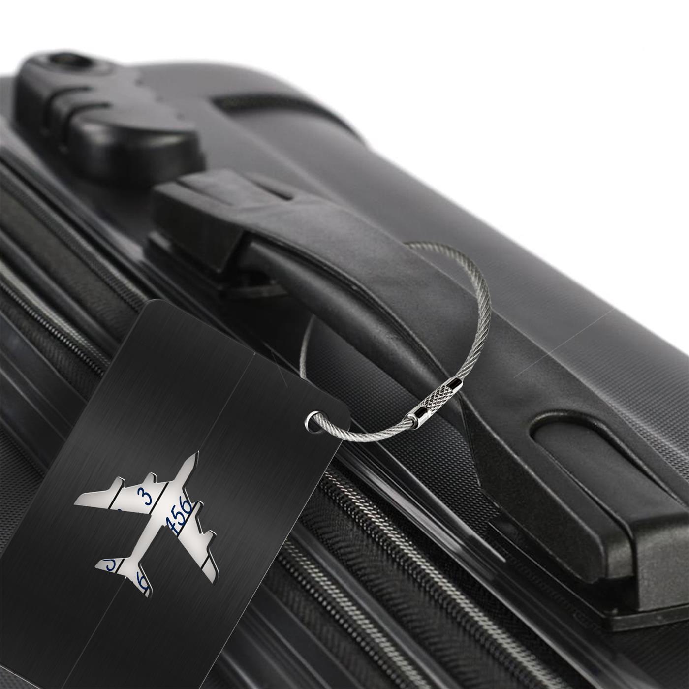 Reise-Kofferanhaenger-Namensschild-Gepaeck-Anhaenger-Schild-Urlaub-Flugzeug-Trolley Indexbild 21