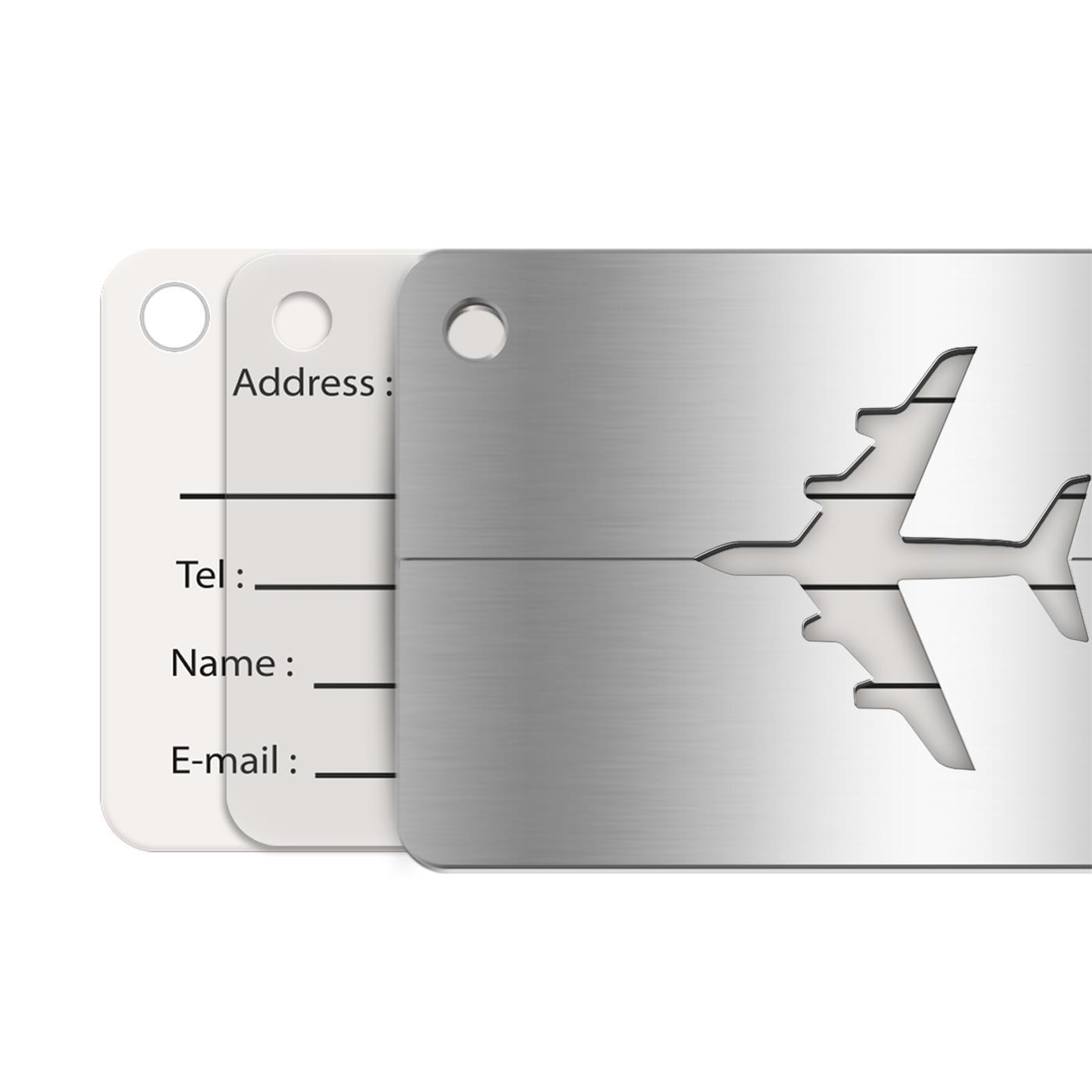Reise-Kofferanhaenger-Namensschild-Gepaeck-Anhaenger-Schild-Urlaub-Flugzeug-Trolley Indexbild 23