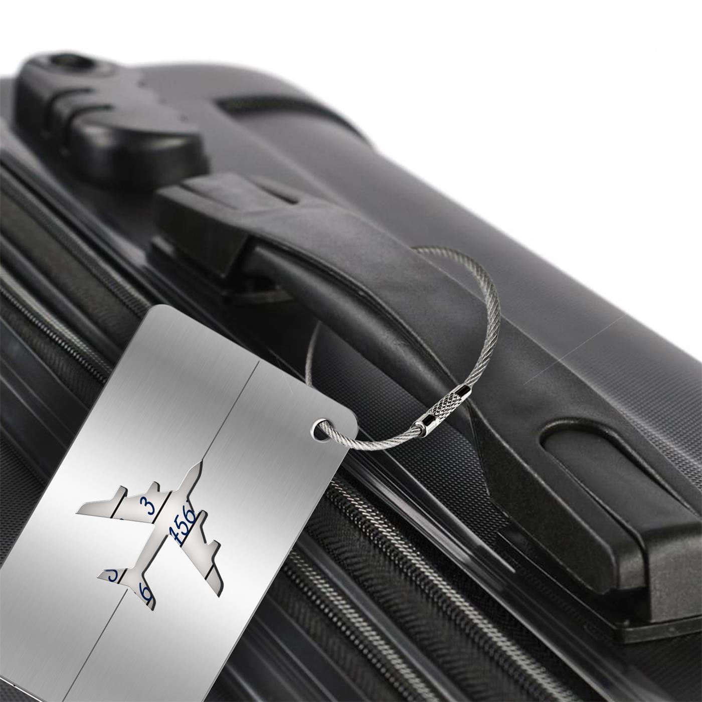 Reise-Kofferanhaenger-Namensschild-Gepaeck-Anhaenger-Schild-Urlaub-Flugzeug-Trolley Indexbild 24