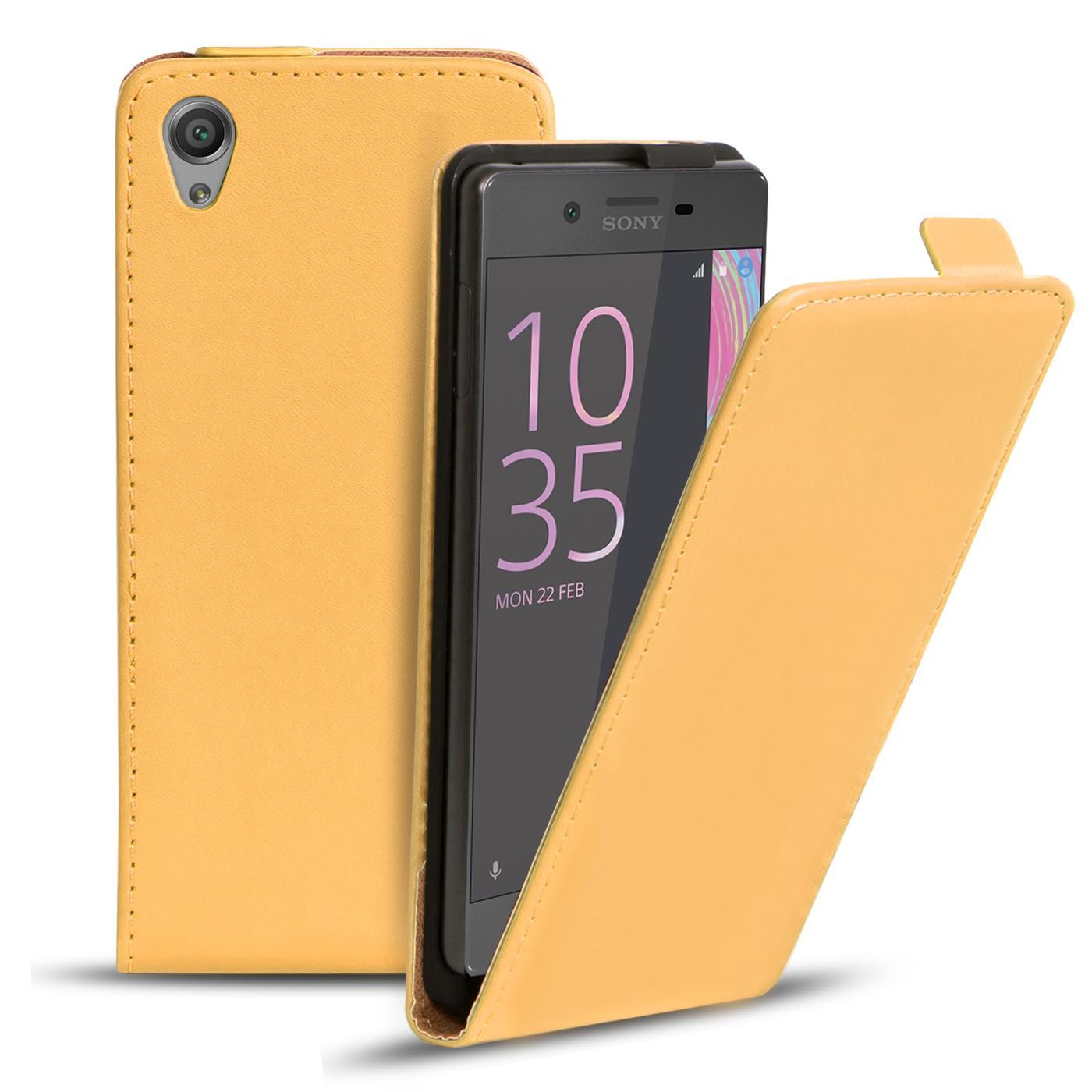 Handy-Tasche-fuer-Sony-Xperia-Flip-Case-Cover-Schutz-Huelle-Klapp-Etui-Schale