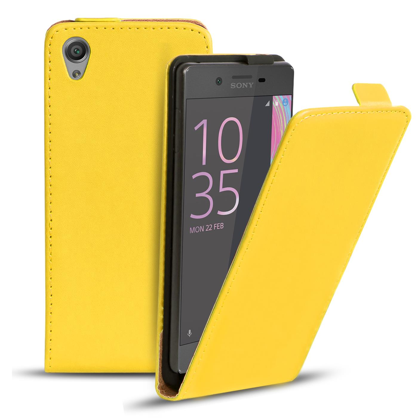 Handy Flip Case für Sony Xperia Klapp Hülle Tasche Schutzhülle Schutz Etui Case