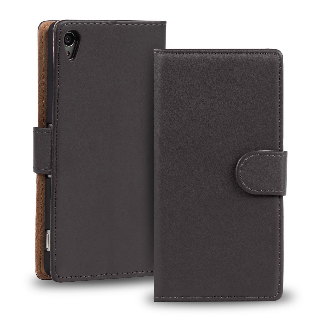 Handy-Huelle-fuer-Sony-Xperia-Case-Schutz-Tasche-Cover-Basic-Wallet-Flip-Etui
