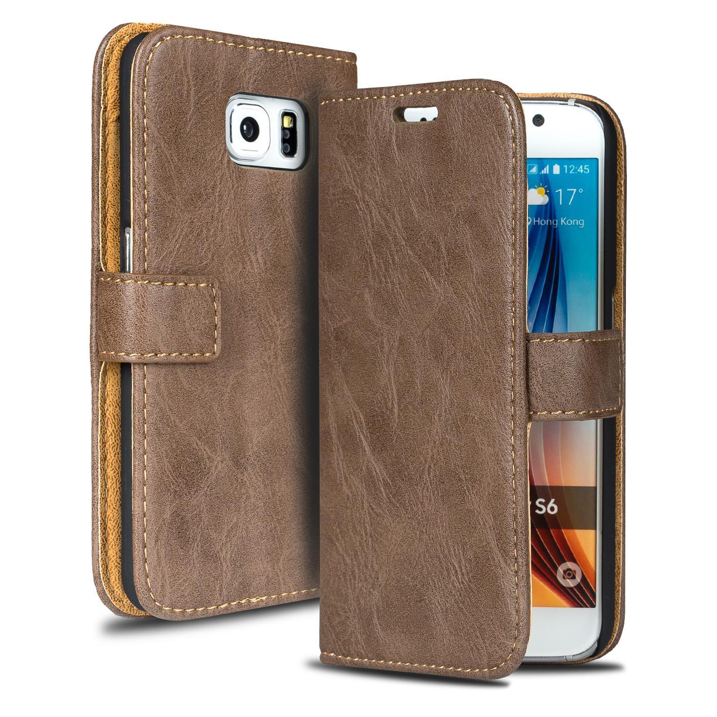 Handy-Tasche-fuer-Samsung-Galaxy-Premium-Flip-Cover-Case-Schutz-Huelle-Wallet-Etui