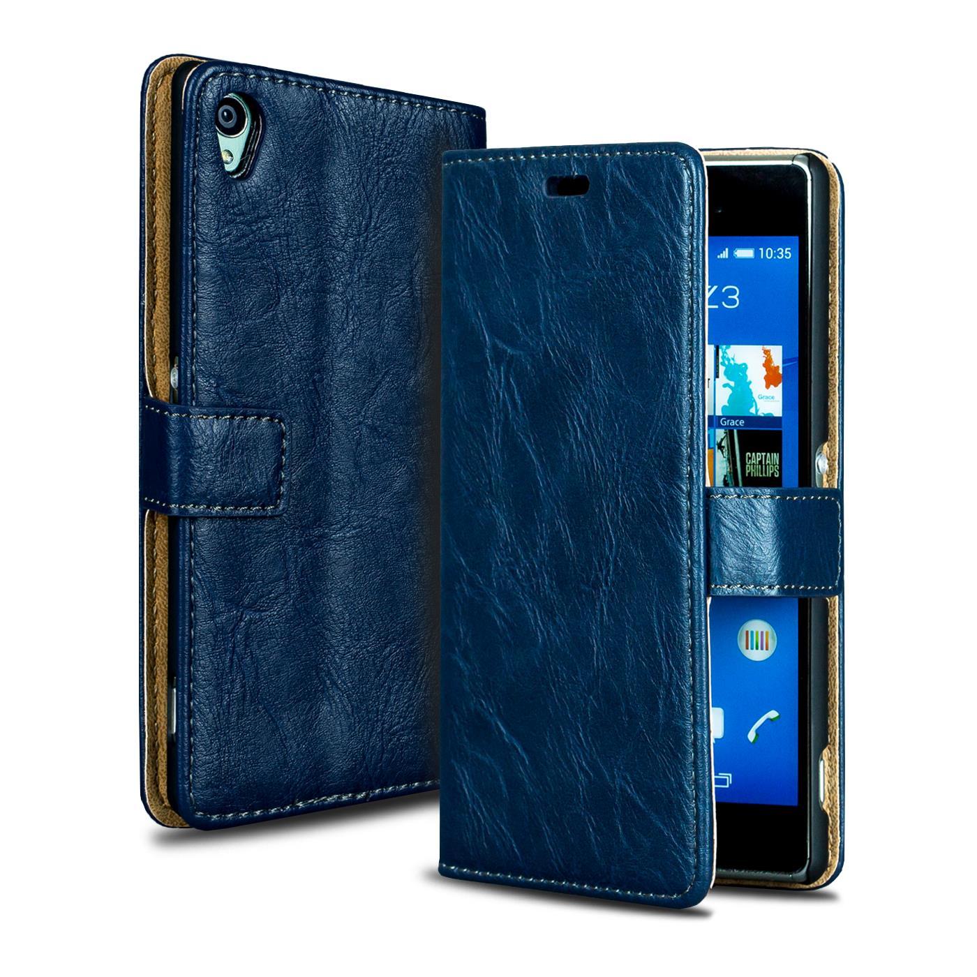 Handy-Tasche-fuer-Sony-Xperia-Premium-Flip-Cover-Case-Schutz-Huelle-Wallet-Etui
