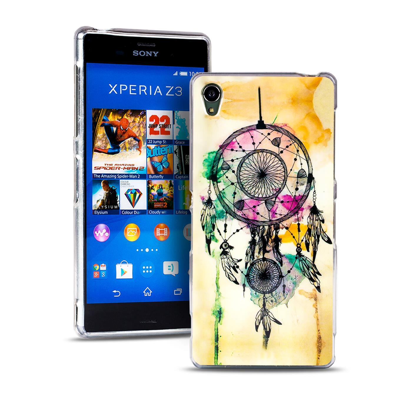 Handy-Huelle-fuer-Sony-Xperia-Cover-Case-Schutz-Tasche-Motiv-Slim-Silikon-TPU