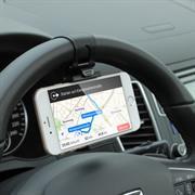 Lenkrad Halter Universal Auto Kfz Halterung für Handy Smartphone Clip Schnalle