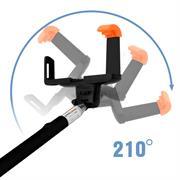 Selfie Stick Teleskop Arm Ausziehbar Drehbar Bluetooth Auslöser Für Smartphones