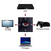 HDMI 1.4 3 Fach Port Verteiler Switch Erweiterung Splitter Umschalter Adapter 3D