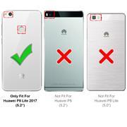 Farbwechsel Hülle für Huawei P8 Lite 2017 Schutzhülle Handy Case Slim Cover