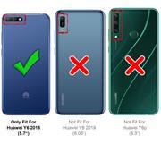 Farbwechsel Hülle für Huawei Y6 2018 Schutzhülle Handy Case Slim Cover