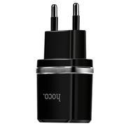 Hoco C12 USB Ladegerät + Lightning Ladekabel Netzteil Dual Port mit 2.4A Reise Ladestecker