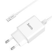Hoco C62A USB Ladegerät + Lightning Ladekabel Netzteil Dual Port mit 2.1A