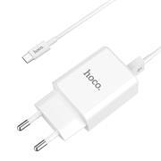 Hoco C62A USB Ladegerät + Micro USB Ladekabel Netzteil Dual Port mit 2.1A