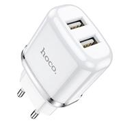 Hoco N4 USB Ladegerät + Lightning Kabel Netzteil Dual Port mit 2.4A Reise Ladestecker