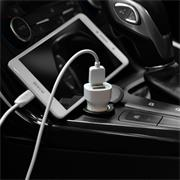 Hoco Z2A KFZ-Ladegerät + Lightning Kabel Auto Stecker mit 2x USB 2.4A für Zigarettenanzünder