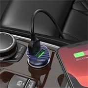 Hoco Z39 QC 3.0 Power KFZ Ladegerät | Schnell Ladegerät 2x USB + Micro USB Ladekabel
