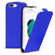 Basic Flip Case für Apple iPhone 8 Plus Klapptasche Cover Hülle in Blau