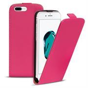 Basic Flip Case für Apple iPhone 8 Plus Klapptasche Cover Hülle in Pink