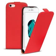 Basic Flip Case für Apple iPhone 8 Klapptasche Cover Hülle in Rot