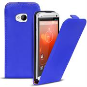 Basic Flip Case für HTC One M7 Klapptasche Cover Hülle in Blau