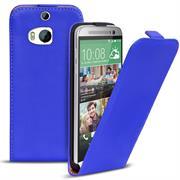 Basic Flip Case für HTC One M8 Klapptasche Cover Hülle in Blau