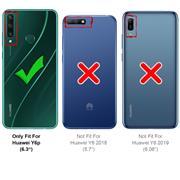 Flipcase für Huawei Y6p Hülle Klapphülle Cover klassische Handy Schutzhülle