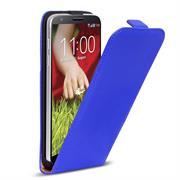 Basic Flip Case für LG G2 Klapptasche Cover Hülle in Blau