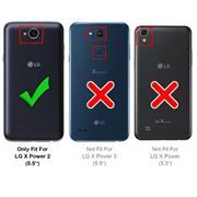 Flipcase für LG X Power 2 Hülle Klapphülle Cover klassische Handy Schutzhülle