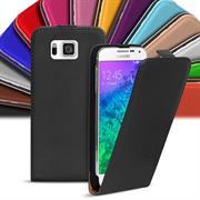 Basic Flip Case für Samsung Galaxy Alpha Klapptasche Cover Hülle