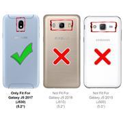Flipcase für Samsung Galaxy J5 2017 Hülle Klapphülle Cover klassische Handy Schutzhülle