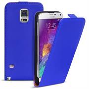 Basic Flip Case für Samsung Galaxy Note 4 Klapptasche Cover Hülle in Blau