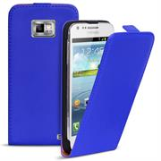 Basic Flip Case für Samsung Galaxy S2 / S2 Plus Klapptasche Cover Hülle in Blau