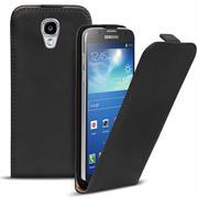 Basic Flip Case für Samsung Galaxy S4 Active Klapptasche Cover Hülle in Schwarz