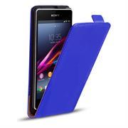 Basic Flip Case für Sony Xperia Z1 Klapptasche Cover Hülle in Blau