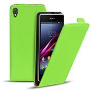 Basic Flip Case für Sony Xperia Z1 Klapptasche Cover Hülle in Grün