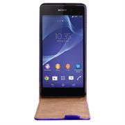 Basic Flip Case für Sony Xperia Z2 Klapptasche Cover Hülle in Blau