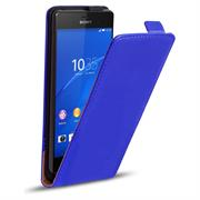 Basic Flip Case für Sony Xperia Z3 Plus Klapptasche Cover Hülle in Blau