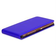 Basic Flip Case für Sony Xperia Z3 Plus Klapptasche Cover Hülle in Blau