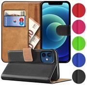 Basic Handyhülle für Apple iPhone 12 Mini Hülle Book Case klappbare Schutzhülle