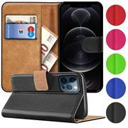 Basic Handyhülle für Apple iPhone 12 / 12 Pro Hülle Book Case klappbare Schutzhülle