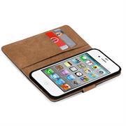 Basic Bookcase Hülle für Apple iPhone 4 / 4S Etui mit Kartenfächern