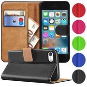 Basic Bookcase Hülle für Apple iPhone 5 / 5S / SE Klapphülle Tasche mit Kartenfächer