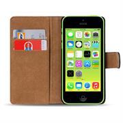 Basic Bookcase Hülle für Apple iPhone 5C Klapphülle Tasche mit Kartenfächer in Blau