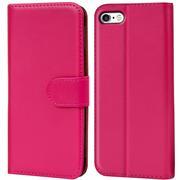 Basic Bookcase Hülle für Apple iPhone 8 Klapphülle Tasche mit Kartenfächer in Pink