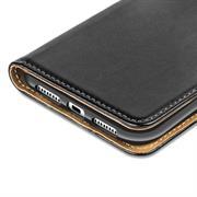 Basic Bookcase Hülle für Apple iPhone 8 Plus Klapphülle Tasche mit Kartenfächer in Blau