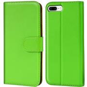 Basic Bookcase Hülle für Apple iPhone 8 Plus Klapphülle Tasche mit Kartenfächer in Grün