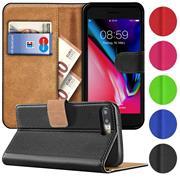 Basic Bookcase Hülle für iPhone 7 Plus / 8 Plus Tasche mit Kartenfächern
