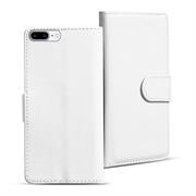 Basic Bookcase Hülle für Apple iPhone 8 Plus Klapphülle Tasche mit Kartenfächer in Weiss