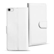 Basic Bookcase Hülle für Apple iPhone 8 Klapphülle Tasche mit Kartenfächer in Weiss